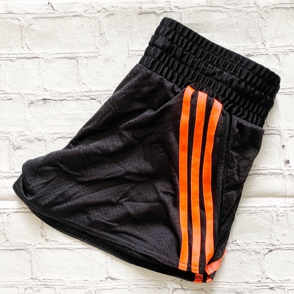 adidas Pants - Adidas Black & Pink Athletic Shorts